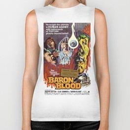 Baron Blood, vintage horror movie poster Biker Tank