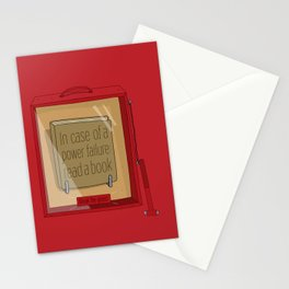 In case of a power failure: read a book Stationery Cards