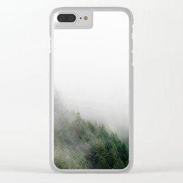 Foggy Oregon forest Clear iPhone Case