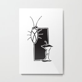 Urban Pairings – Cockroach + Apple core Metal Print