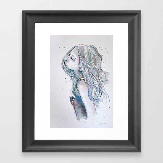 Breeze (variant II), watercolor painting Framed Art Print