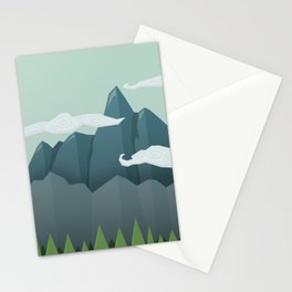 Mountains & Clouds Stationery Cards