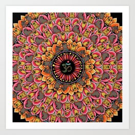 Pug Yoga Mandala Art Print