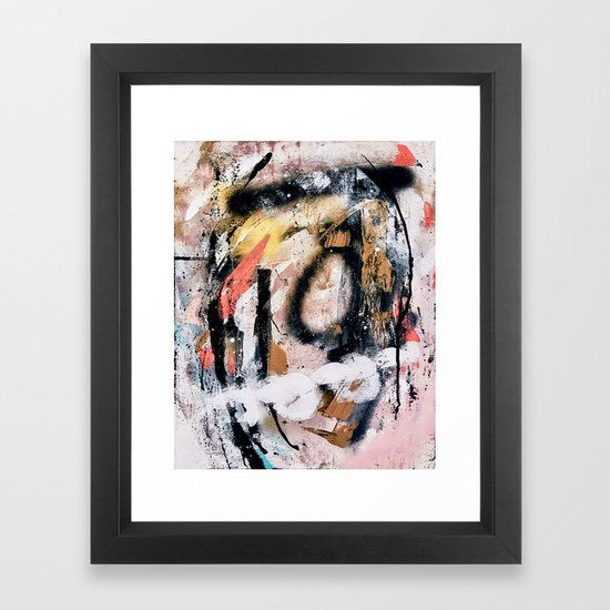 Lightning Soul: a vibrant colorful abstract acrylic, ink, and spray paint in gold, black, pink by blushingbrushstudio