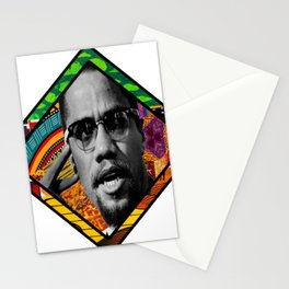 Malcolm Afro Print Stationery Cards