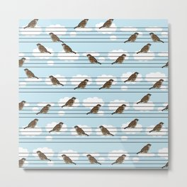 Musical sparrows Metal Print