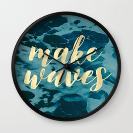 Make Waves in Gold Wall Clock
