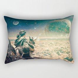 Watching Closely Rectangular Pillow