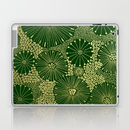 gold dandilion burst Laptop & iPad Skin