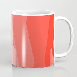 Cool Geometric Living Coral Gradient abstract Coffee Mug