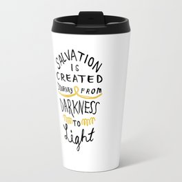 Salvation is Created Travel Mug