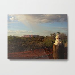 Doggy and the Red Giant Metal Print