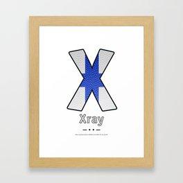 Xray - Navy Code Framed Art Print