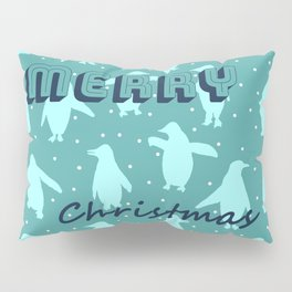 Merry Christmas from the penguins I Pillow Sham