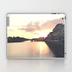 sunset on the Arno Laptop & iPad Skin
