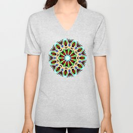 Red Focus - Painting Within The Lines Collection Unisex V-Neck
