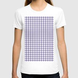 Plaid pattern lilac and white T-shirt