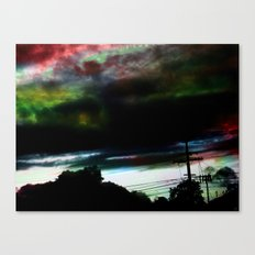 Dull to Dim In A Night Sky Canvas Print