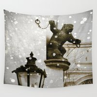 prague Wall Tapestries featuring Prague  Gargoyle by Bella Blue Photography