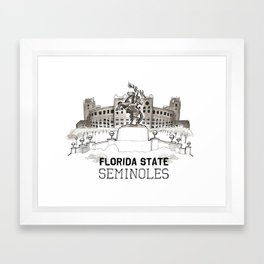 FSU Print *NEW Lettering* Framed Art Print