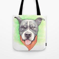 Pitbull - Love is blind - Stevie the wonder dog Tote Bag