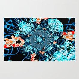 HypnoSpace- Tangent Blue & Orange Rug