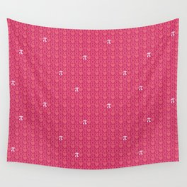 Hugs, Kisses, Love, and Pi - Pink  Wall Tapestry