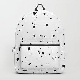 Black & White Ink Spots Dots Drops Speckles Backpack