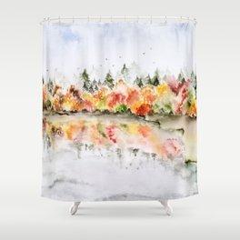 Autumn reflexions Shower Curtain