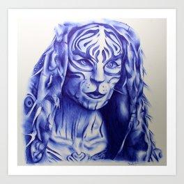 MJ Part 2 - Tigris Ballpoint Pen Sketch Art Print