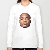 wes anderson Long Sleeve T-shirts featuring Anderson Silva Vector by QUAPEX