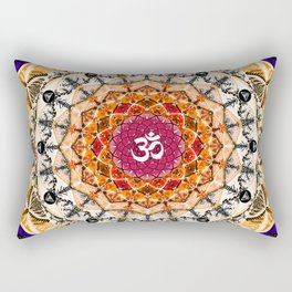 ORANGE OM MANDALA Rectangular Pillow
