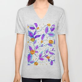 Purple Prosper #society6 #buyart Unisex V-Neck