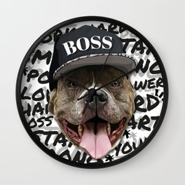Pitbull Boss Wall Clock