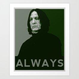 Severus Snape Always Art Print