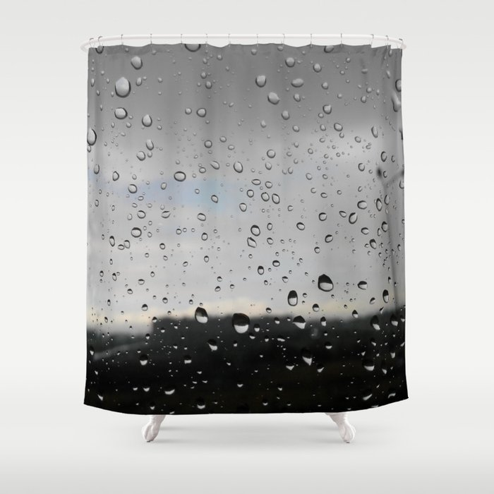 Raindrop Shower Curtain By Mikhailzh