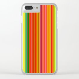 Rainbow Glowing Stripes Clear iPhone Case