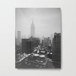 Foggy New York City Metal Print