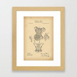 1875 Patent Corset Framed Art Print
