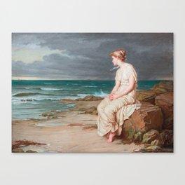 Miranda, John William Waterhouse Canvas Print