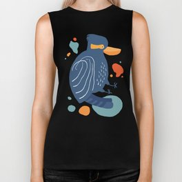 Quirky Laughing Kookaburra Biker Tank