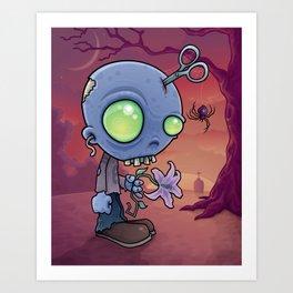 Zombie Jr. Art Print