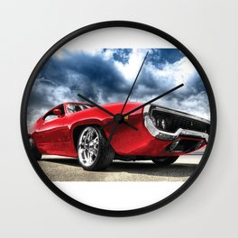 Red Muscle Wall Clock