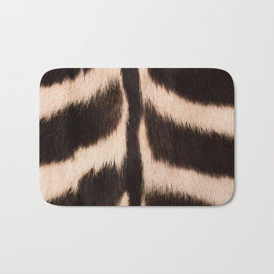 Zebra - zebra stripes -zebra skin - genuine - beautiful - #society6 #buyart Bath Mat