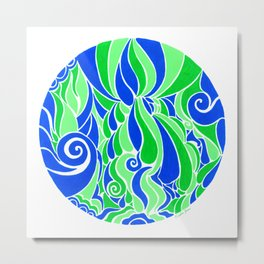 Water Life :: Color Therapy Collection :: Metal Print