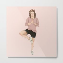 Hippy Harry Styles Metal Print