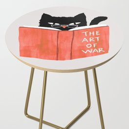 Cat reading book Side Table