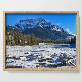 Mount Kerkeslin in Jasper National Park, Alberta Serving Tray
