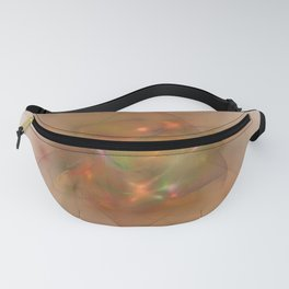 Folds In Muted Rainbow Fanny Pack