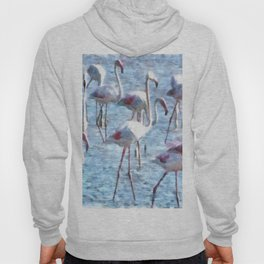 Stand Out In the Crowd Flamingo Watercolor Hoody